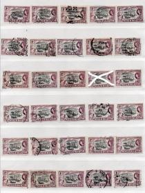 英联邦邮票M,尼日利亚1953年,伐木运输工人,一枚价