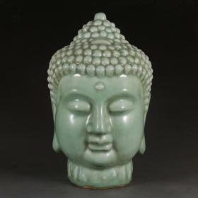 龙泉窑青瓷佛头佛像