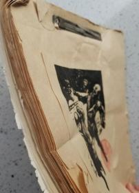 民国时期 老版画 一本 版画共21张 画本尺寸:27X20厘米,每幅版画尺寸大约:13X9厘米