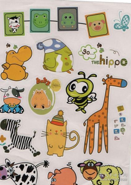 卡通,动画,动物贴纸,贴图,贴片