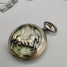 欧米茄怀表欧式机械单壳怀表男表带链 复古怀表生日礼物 款式多样