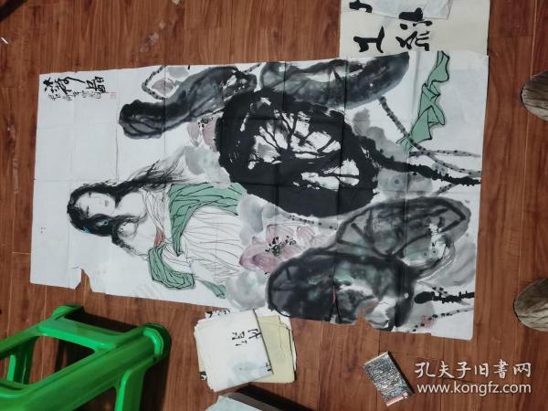 四川著名书画家 李宗委 国画一幅(136CM.68CM)