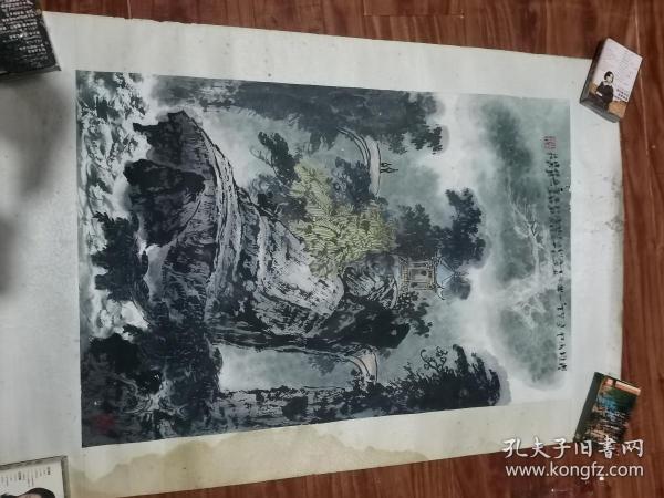 四川著名书画家 罗其鑫 国画一幅(69CM.45CM)