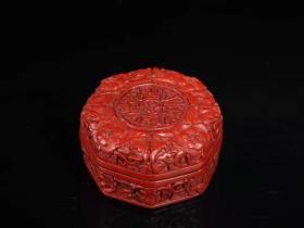 收藏剔红福满乾坤漆器首饰盒