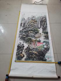 洞庭画院付院长著名画家任人杰 山水画一幅136*68厘米