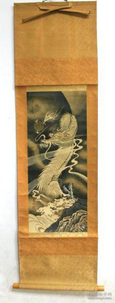 善海 70年代绢本白龙图