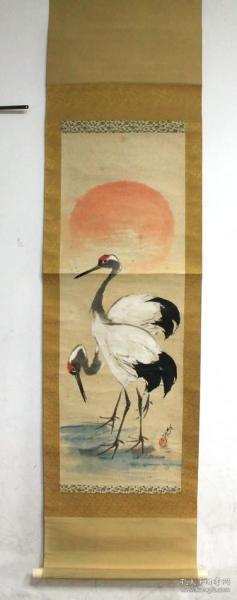 民国 婧云  双鹤图