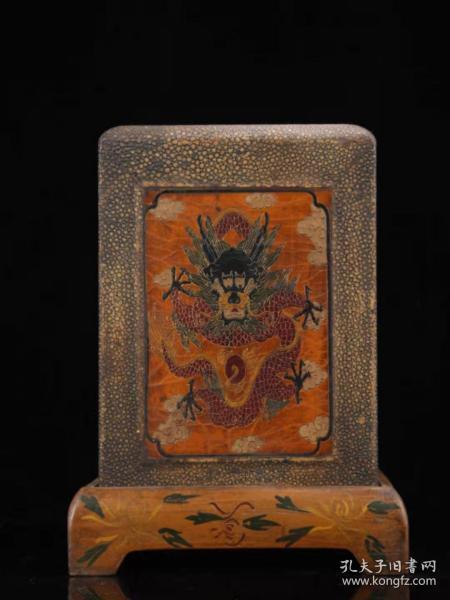 收藏木胎漆器印章盒