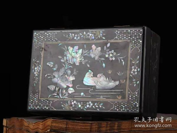 收藏螺钿漆器鸳鸯戏水收纳盒