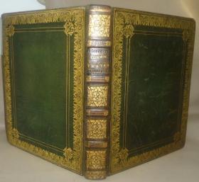 1816年  CHURCH OF ENGLAND The Book of Common Prayer 全摩洛哥小牛皮豪华特装古董书  超大开本 品相佳 美奂美仑 送礼佳品