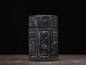 螺钿漆器牙签盒高9厘米