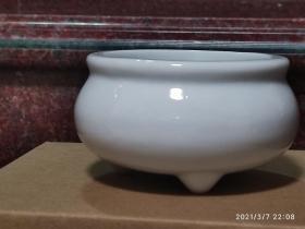 德化陶瓷 小香炉 非常精致 白瓷香炉 德化窑口