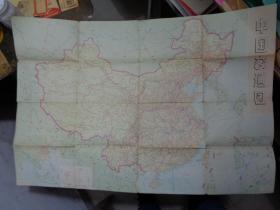 中国交通图-- 中国铁路线路示意图 (1974年)