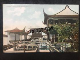 【影像资料】清末茶楼(似为上海豫园内)及游人等景象,色彩雅致难得