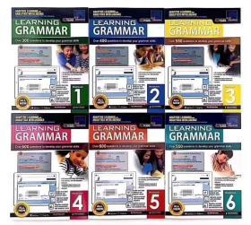 套装书 新加坡最大的教育出版社SAP出品, Learning English Grammar 新加坡语法练习册 6册 平装