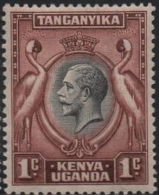 英联邦邮票:英属肯尼亚乌干达南非冠鹤,非洲草原珍惜野生动物
