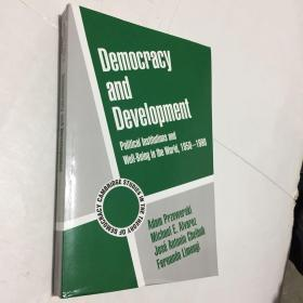 Democracy and Development: Political Institutions and Well-Being in the World, 1950–1990 (Cambridge Studies in the Theory of Democracy,)