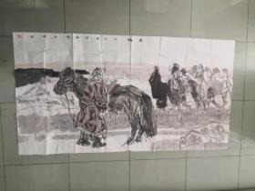 【保真 特惠】中美协会员 赤峰市美协副主席 付向宏 六尺整张写意风景画1