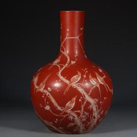 樱桃红喜上眉梢天球瓶