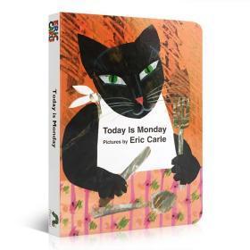 【中商原版】今天是星期一 英文原版 Today Is Monday board book 艾瑞卡尔爷爷 英语启蒙儿歌 纸板书 廖彩杏张湘君书单