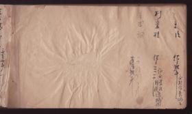 民国《空白册》筒子页 有黄斑 纸张帘纹清晰  27x15cm   76面