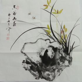 国画吴定川斗方