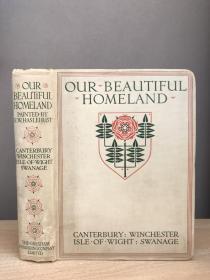 Our Beautiful Homeland 水彩画大师海斯勒哈斯特 每隔3-5页就有一张风景水彩画 颜色细腻漂亮