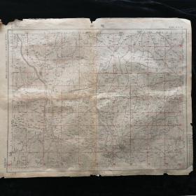 随县地图•1947年测量总局 制印•尺寸44x59厘米(一)