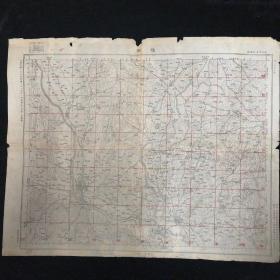 随县地图•1947年测量总局 制印•尺寸44x59厘米(二)