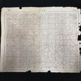 湖北省双合店地图•1947年测量总局 制印•尺寸55x44厘米