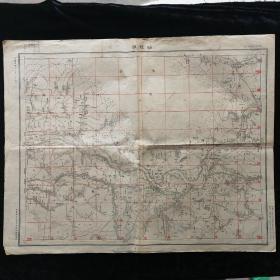 仙桃镇 地图•1927年军令部陆军测量总局 制印•尺寸43.5x54.5厘米