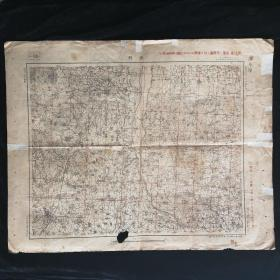 两面地图•河北涿县地图 背印 江苏泗阳城地图•1940年参谋部 制印•尺寸58x45.6厘米