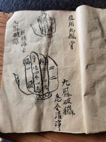 稀见道教符咒抄本,符都少见