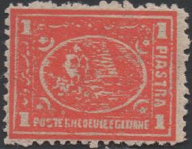 英联邦邮票A,英属埃及1874年金字塔、狮身人面像,古代历史遗迹
