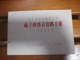 罕见 小册子 北京市百货批发公司袜子科统计资料手册(一九五九年度)