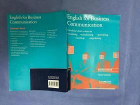 英文原版:English for Business Communication Student's book 商务沟通英语 学生用书