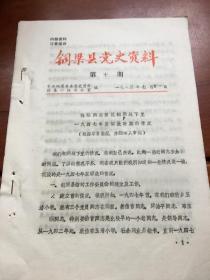 铜梁县党史资料第10期