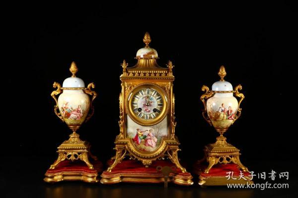 旧藏 晚期民国  老西洋人物钟