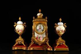 旧藏 百年老西洋人物钟