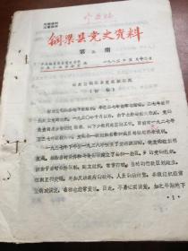 铜梁县党史资料第3期