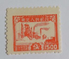 解放区邮票 J.DB-67 生产建设图全新邮票
