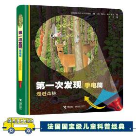FX第一次发现手电筒系列丛书走进森林 0-3-6周岁儿童科普百科全书小学课外书阅读书籍3D立体翻翻书幼儿启蒙绘本透视眼十万个为什么
