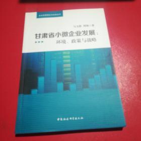 甘肃省小微型企业发展战略研究:环境、政策与战略
