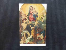 亚美利洲-早期复古集邮手账收藏彩色外国邮政空白明信片