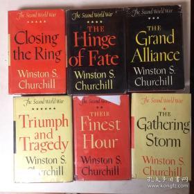 【包邮】The Second World War by Winston Churchill 丘吉尔《二战回忆录》六卷本 1953年出版
