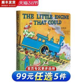 英文原版绘本 The Little Engine That Could 勇敢小火车头做到了纸版书 直面克服困难坚持不懈童书 好性格培养 美国100本图画书