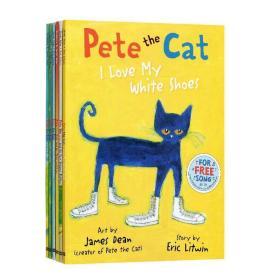 英文原版 6册皮特猫大开本平装绘本全套Pete the Cat我爱我的白鞋子I Love My White Shoes启蒙学习英语童书吴敏兰书单petethecat