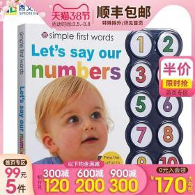 英文原版 Simple First Words系列:Simple First Words Let's Say Our Numbers 儿童启蒙数数发声有声纸板书 宝宝磨耳绘本童书3岁