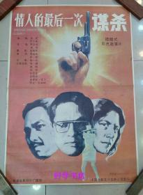 绘画版电影海报:情人的最后一次谋杀