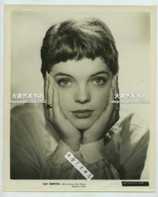 1957年美国好莱坞女影星女明星Lili Gentle黑白银盐肖像照片一张,25.2X20.6厘米